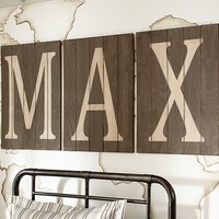 Wood Planked Letters | Pottery Barn Kids