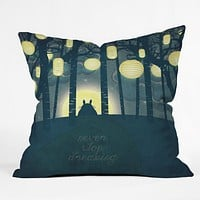 Belle13 Totoros Dream Forest Throw Pillow