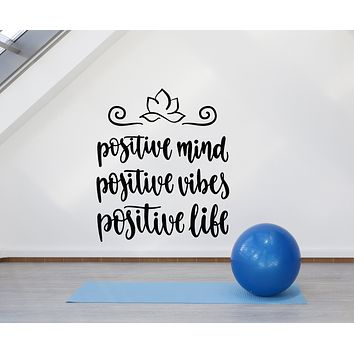 Vinyl Wall Decal For Yoga Studio Positive Quote Words Stickers (3240ig)