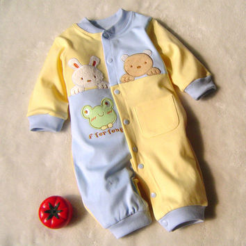2017 Baby Rompers Cotton Newborn Baby Boys Clothes Infant Roupa Bebes New Born Baby Costume Long Sleeve Baby Clothing Set