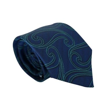 Honor (Blue & Teal) Paisley Neck Tie