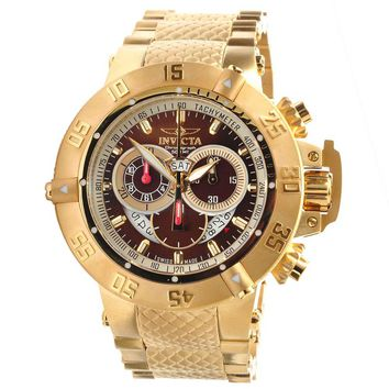 Invicta 5405 Men's Subaqua Noma III Chronograph Brown Dial Gold Plated Steel Dive Watch