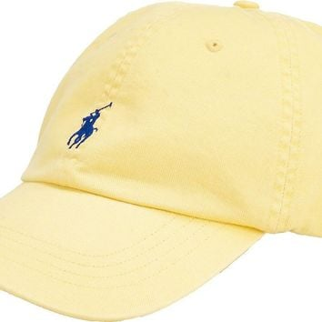 Polo Ralph Lauren Classic Sports Baseball Cap Hat Big & Tall (Yellow)