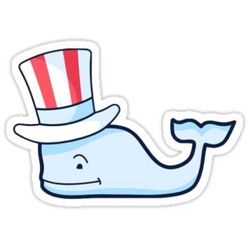 Vineyard Vines Whale Sticker | 4th Of July by laurrenpowell