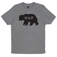HUF - BEAR LOGO S/S TEE // GRAY HEATHER