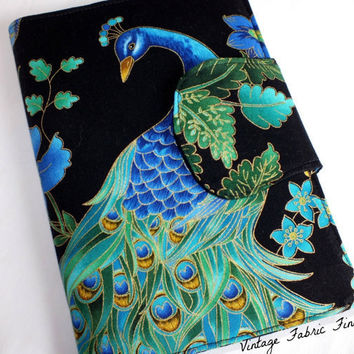 Peacock eReader Cover Kindle, Nook Cover, Kobo Cover, Kindle Fire Cover, Kindle Touch Cover eReader Book Style Cover