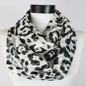 black-white scarf,scarf,infinity scarf, scarf, scarves, long scarf, loop scarf, gift