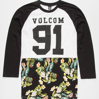 Volcom Future Athletics Mens Baseball Tee Black  In Sizes
