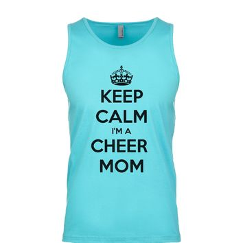 Keep Calm I'm A Cheer Mom  Men's Tank