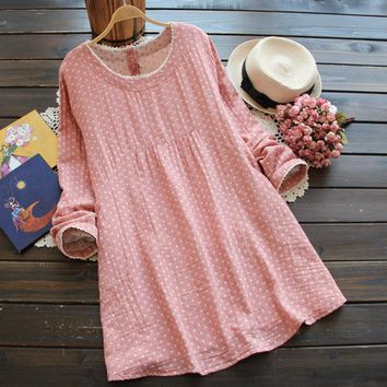 Autumn Spring Linen Cotton Loose Maternity Dresses for Pregnant Women,Plus Size Casual Pregnancy Dress,Maternity Clothing M-XXL