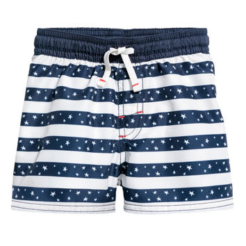 Patterned Swim Shorts - from H&M