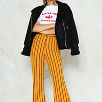 Reverting to Stripe Flare Pants