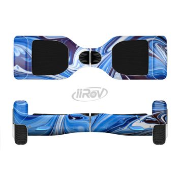 The Blue and White Blended Paint Full Body Skin Set for the Smart Drifting SuperCharged Transportation iiRov