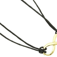 Horizontal Gold Infinity Necklace
