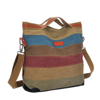 Ladies Handbag Casual Tote Canvas Bag Bolsa Feminina Stripe Women Canvas Bags