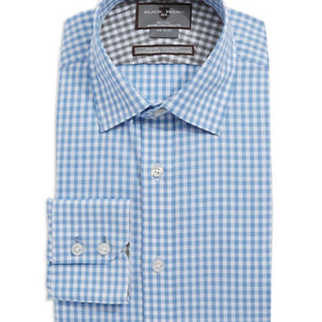 Black Brown 1826 Fitted Gingham Pattern Dress Shirt