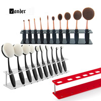 10 Grids Toothbrush Makeup Brushes Display Holder Stand Shelf Storage Boxes Organizer Brush Showing Rack Without Brushes