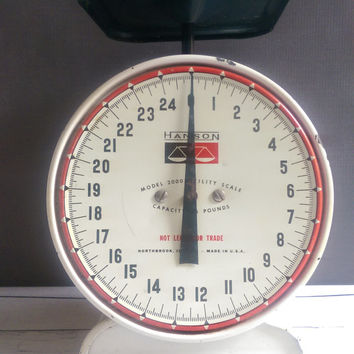 Vintage Hanson Kitchen Scale/ Vintage Kitchen Scale/ Antique Scale