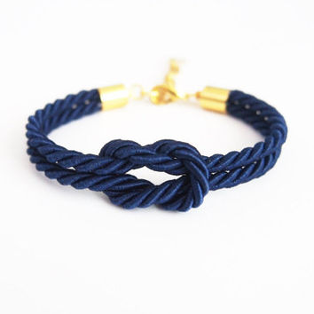 nautical rope , navy blue wedding , bridesmaid gift
