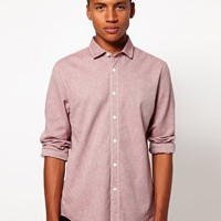 ASOS Slim Shirt in Brushed Twill at asos.com