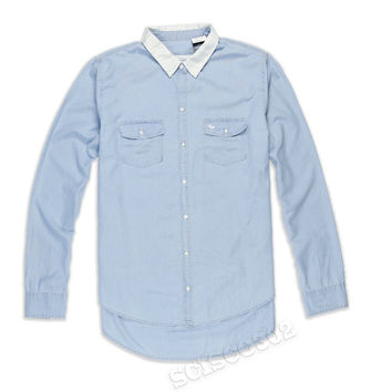 Abercrombie & Fitch Shirt Button Down Blue