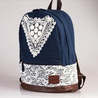Fashion Lace Backpack with Crochet