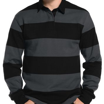 LL Mens Premium Long Sleeve Rugby Polo Shirt