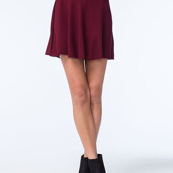 H.I.P. Sweater Rib Skater Skirt | Short Skirts