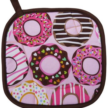 Handmade Pot Holder: Donuts