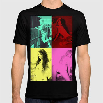 Pop Hot Quad No. 1, sexy colorful pop art pin-up girls T-shirt by OCcreates