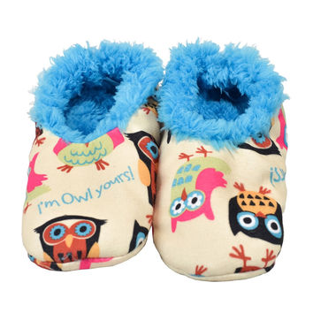 Owl Yours Fuzzy Feet Womens Slippers