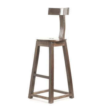"""Go Home 26"""" Rustic Wooden Barstool - 9055"""