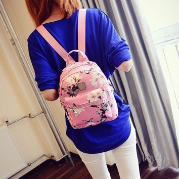 Women's Causal Floral Print Backpack