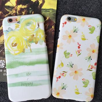 Original Floral iPhone 5s 5se 6 6s Plus Case Best Solid Cover + Gift Box 397