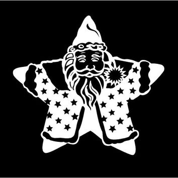 Santa Star decal Merry Christmas Decal Christmas Decal Santa decal Custom Vinyl decal Car Decals Window decal Merry Christmas Star Decal