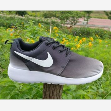 NIKE Roshe Run Print Gradient sports shoes gray-white hook H-MDTY-SHINING
