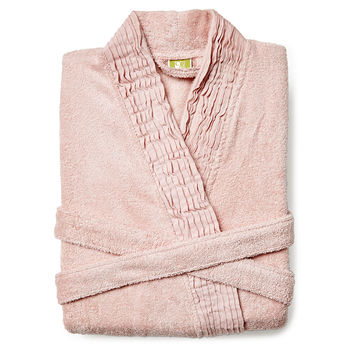 Pleated Robe, Dusty Rose, Shower Wraps