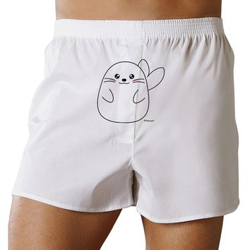 Cute Seal Front Print Boxer Shorts by TooLoud