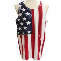 Mens Vertical American Flag Tank Top