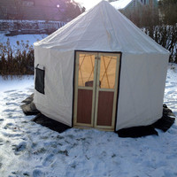 Micro Yurt  The Insta-10 from Life in the Round Yurts