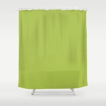 Monochrome collection lime Shower Curtain by ArtGenerations