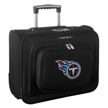 Tennessee Titans Carry-On Rolling Laptop Bag - Black - http://www.shareasale.com/m-pr.cfm?merchantID=7124&userID=1042934&productID=540327328 / Tennessee Titans