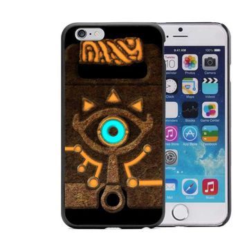 The Legend of Zelda Breath of the Wild Sheikah Slate Hard plastic Phone Case For iPhone 5 5S 6 6S Plus SE 7 7Plus Black Cover