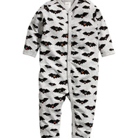 H&M - Pajama Bodysuit - Light gray - Kids