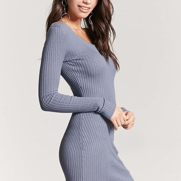 Crisscross-Back Sweater Dress