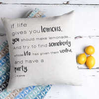 'If Life Gives You Lemons' Cushion Cover