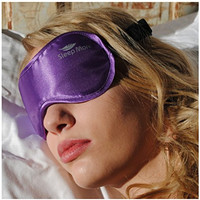 "Sleep More (SMALL-Med Size) Sleeping Mask for Men or Women, with Free ""ONE BAG"". A PURPLE Satin Natural Rest Aid for Sleep Disorders & Insomnia"