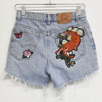Tiger Patched Reworked Shorts