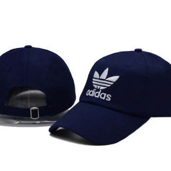 Navy Blue Adidas Women Men Sport Sunhat Embroidery Baseball Cap Hat