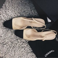 Chanel Women Summer Fashion Slingbacks